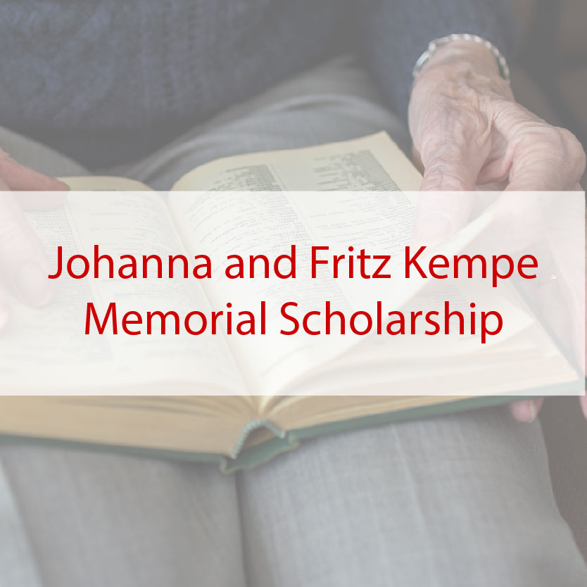 Johanna and Fritz Kempe Memorial Scholarship