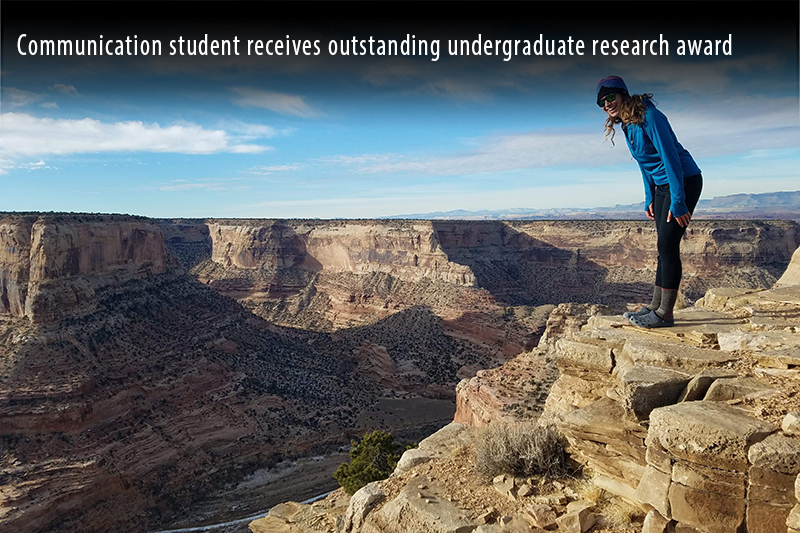 Communication student receives outstanding undergraduate research award